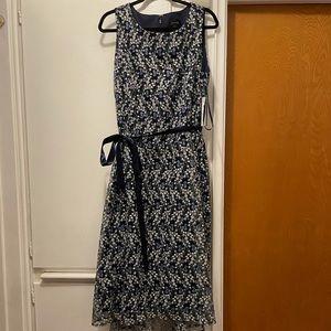 NWT Tahari navy floral dress !